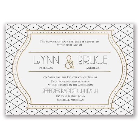 Grecian Frame - Gold - Foil Invitation