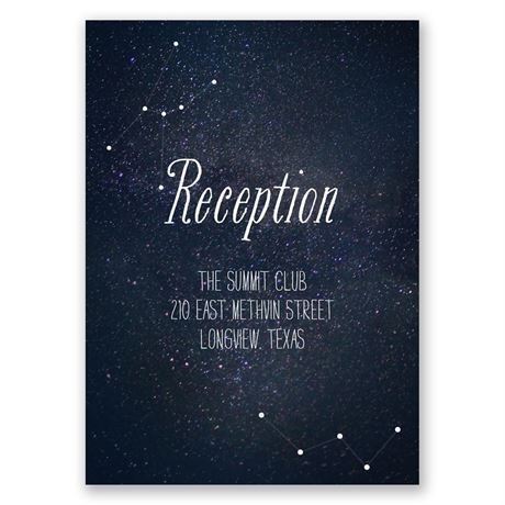 Star Gazer Reception Card
