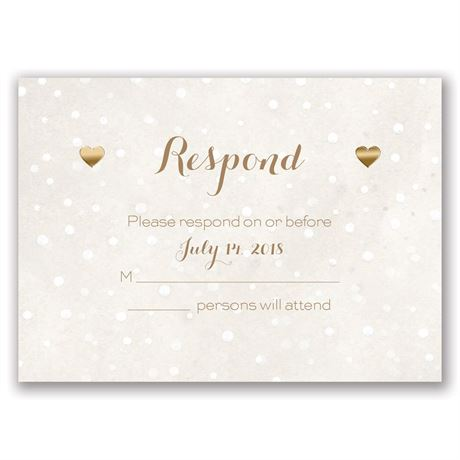 Heart and Home - Gold - Foil Response Card