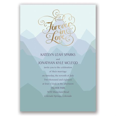 "Nature""s Inspiration - Gold - Foil Invitation"