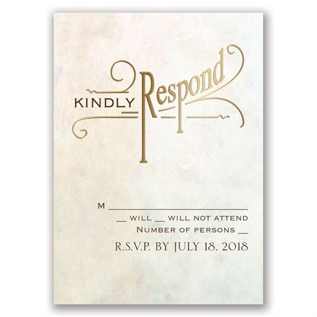 Simply Dreamy - Gold - Foil Response Card
