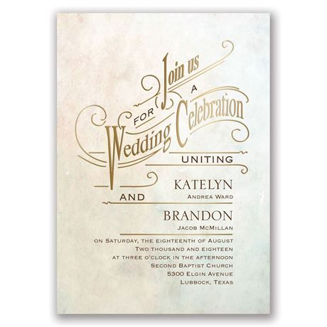 Simply Dreamy - Gold - Foil Invitation