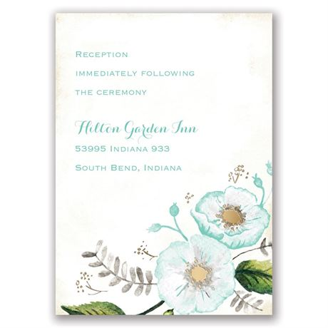 Delicate Creations - Gold - Foil Reception Card