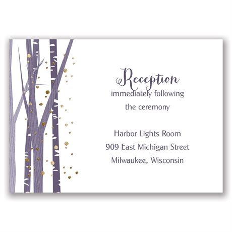 Woodland Snowfall - Gold - Foil Reception Card