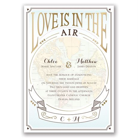Taking Flight - Gold - Foil Invitation
