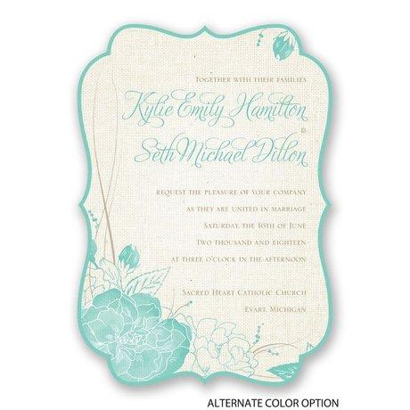 Floral Linen - Invitation