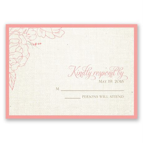Floral Linen Response Card