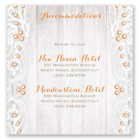 Country Affair Pocket Accommodations Card
