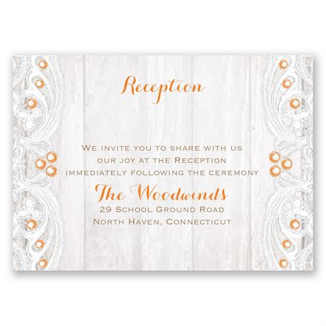 Country Affair Reception Card
