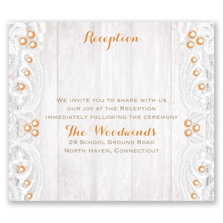 Country Affair Pocket Reception Card