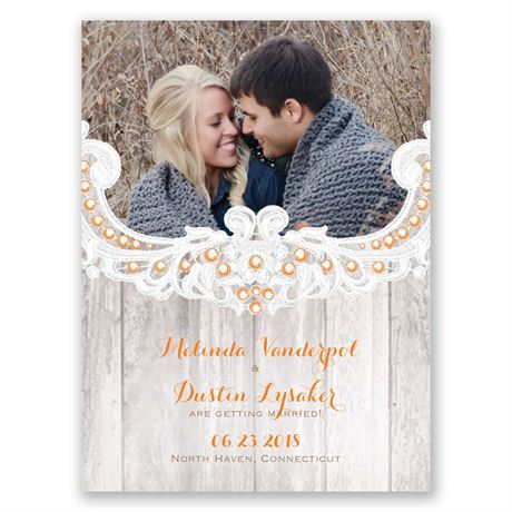 Country Affair Save the Date Card