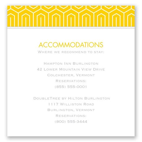 Modern Dream Pocket Accommodations Card