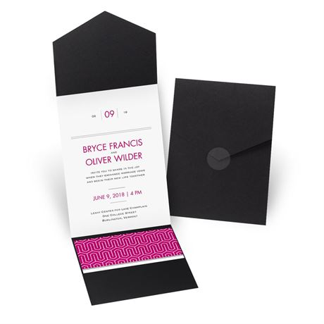 Modern Dream - Black - Pocket Invitation
