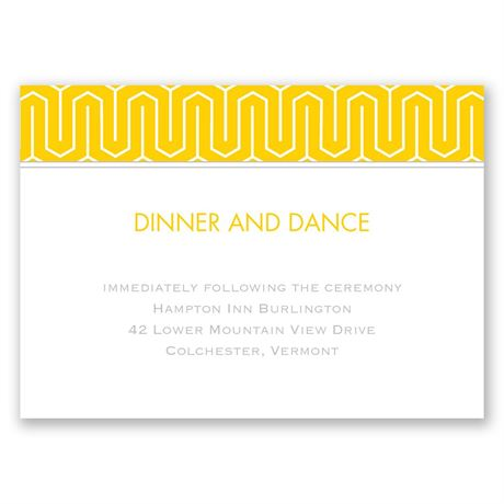 Modern Dream Reception Card