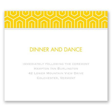 Modern Dream Pocket Reception Card