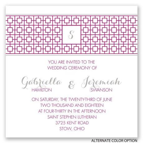 Geo Chic - Invitation