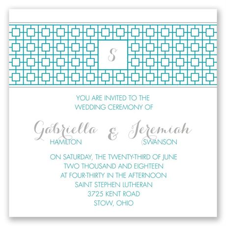 Geo Chic Invitation