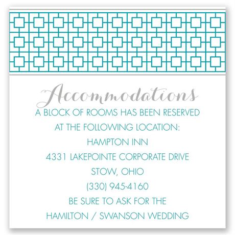 Geo Chic Pocket Accommodations Card