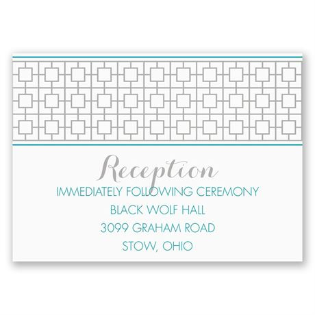 Geo Chic Reception Card
