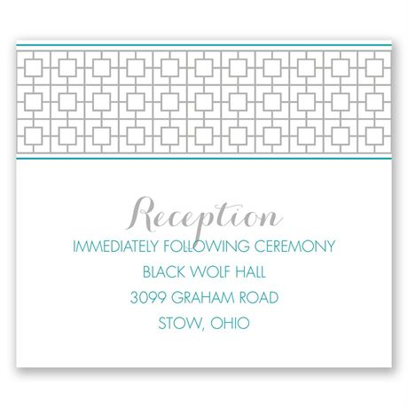 Geo Chic Pocket Reception Card