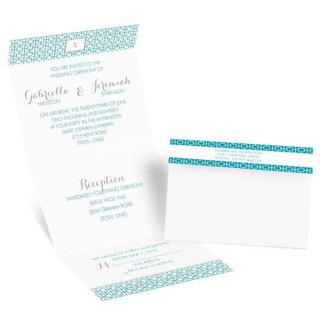 Geo Chic Seal and Send Invitation