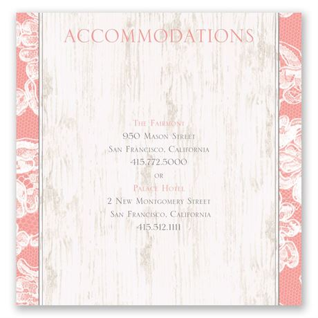 Lace Love Pocket Accommodations Card