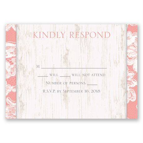 Lace Love Response Card