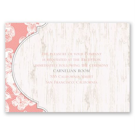 Lace Love Reception Card