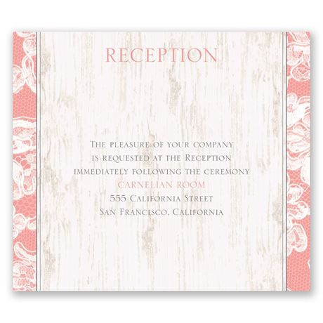 Lace Love Pocket Reception Card