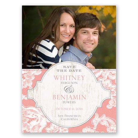 Lace Love Save the Date Card