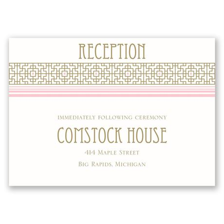 Sweet Romance Reception Card