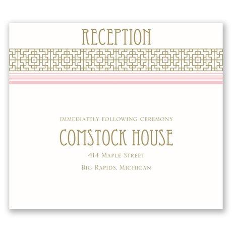 Sweet Romance Pocket Reception Card