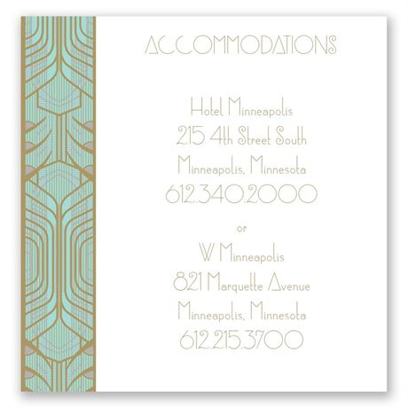 Grand Presentation Pocket Accommodations Card