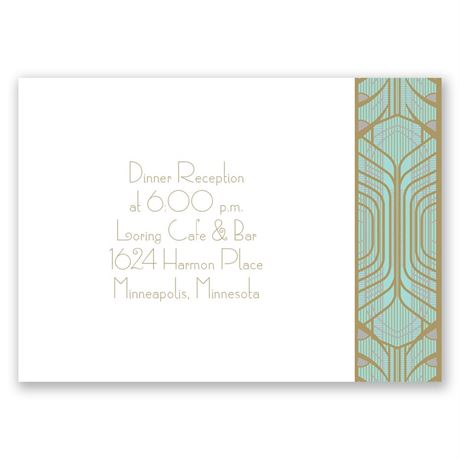 Grand Presentation Reception Card
