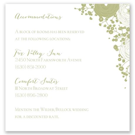 Sweet Dreams Pocket Accommodations Card
