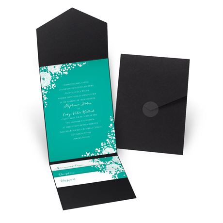Sweet Dreams - Black - Pocket Invitation