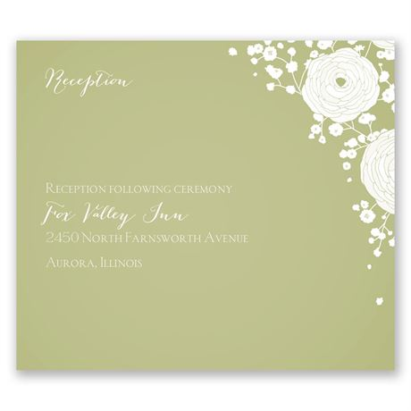 Sweet Dreams Pocket Reception Card
