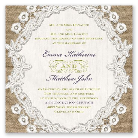 Embroidered Embrace Invitation