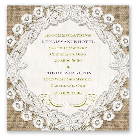 Embroidered Embrace Pocket Accommodations Card