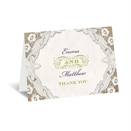 Embroidered Embrace Thank You Card
