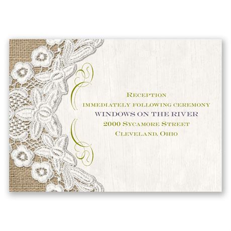 Embroidered Embrace Reception Card