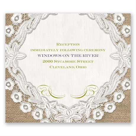 Embroidered Embrace Pocket Reception Card