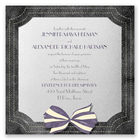 Simply Dashing Invitation