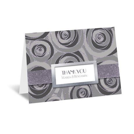 Modern Roses Thank You Card
