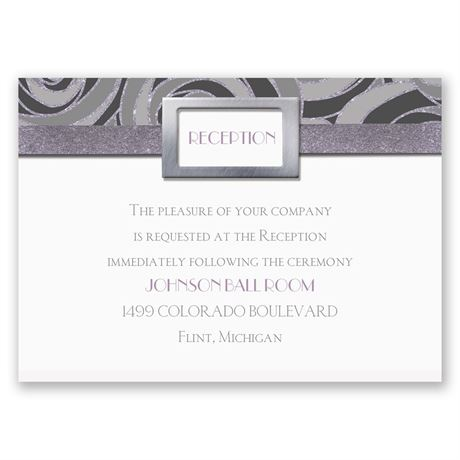 Modern Roses Reception Card