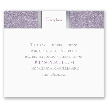 Modern Roses Pocket Reception Card