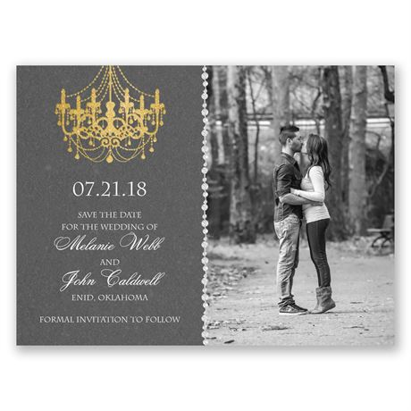 Mood Lighting Save the Date Card