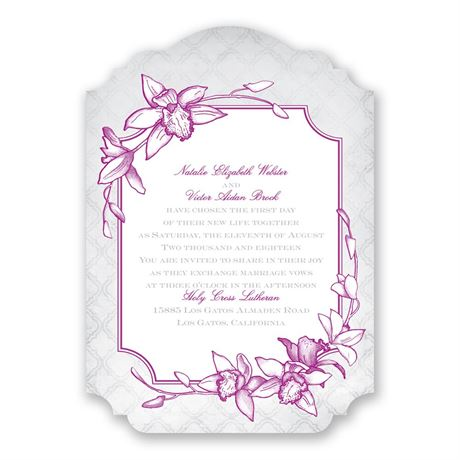 Exotic Orchid Invitation
