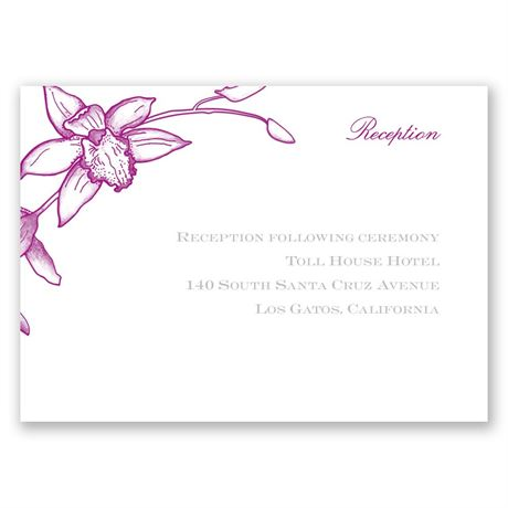 Exotic Orchid Reception Card