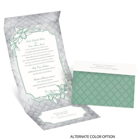 Exotic Orchid - Seal and Send Invitation